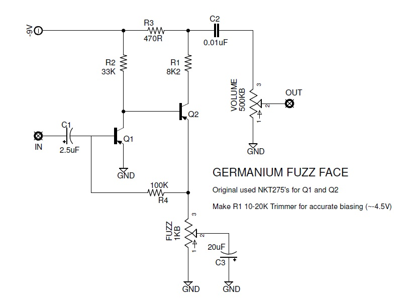 analogman sunface schematic nkt 275: The faces of fuzz a brief history of the fuzz face